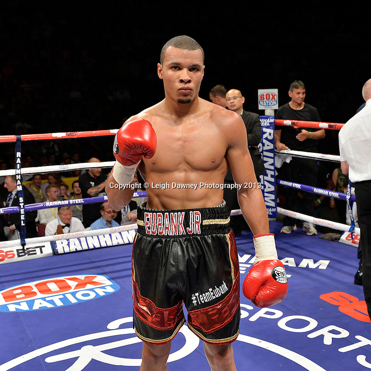Chris Eubank Jnr defeats Ivan Jukic in a middleweight contest on 26th July 2014 at the Phones 4U Arena, Manchester. Promoted by Frank Warren. © Credit: Leigh Dawney Photography.