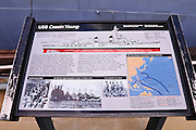 Interpretive sign at the USS Cassin Young (National Historic Landmark), Charlestown Navy Yard, Boston, Massachusetts