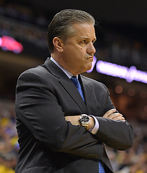 Feb 19, 2019; Columbia, MO, USA; Kentucky Wildcats head coach John Calipari reacts to play during the game against the Missouri Tigers at Mizzou Arena. Mandatory Credit: Denny Medley-USA TODAY Sports