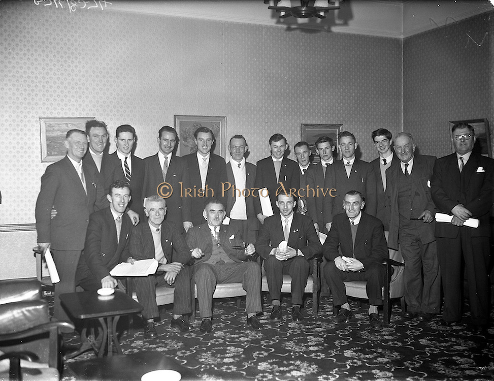29/01/1961<br /> 01/29/1961<br /> 29 January 1961<br /> N.A.C.A. (National Athletic and Cycling Association) All Ireland Congress at the Anchor Hotel, Dublin.