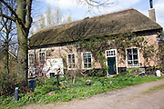 Traditional thatched farmhouse, Westgaag, near Maasluis, Netherlands