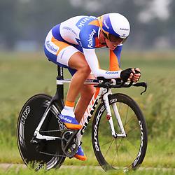 Sportfoto archief 2012<br /> Nederlands Kampioenschap tijdrijden vrouwen Emmen<br /> Iris Slappendel 3e