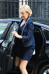 Downing Street, London, September 13th 2016. Environment, food and Rural Affairs Secretary Andrea Leadsom arrives for the weekly cabinet meeting at Downing Street.