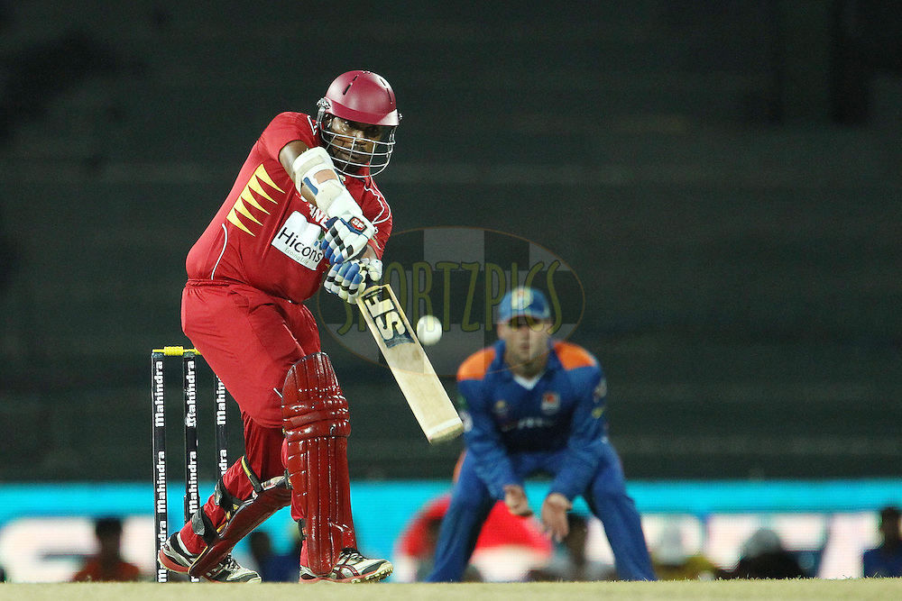 Thilina Kandambi hits out but is caught during match 21 of the Sri Lankan Premier League between Uva Next and Nagenahiras held at the Premadasa Stadium in Colombo, Sri Lanka on the 27th August 2012. .Photo by Ron Gaunt/SPORTZPICS/SLPL