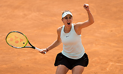May 14, 2019 - Rome, ITALY - Belinda Bencic of Switzerland in action during her first-round match at the 2019 Internazionali BNL d'Italia WTA Premier 5 tennis tournament (Credit Image: © AFP7 via ZUMA Wire)