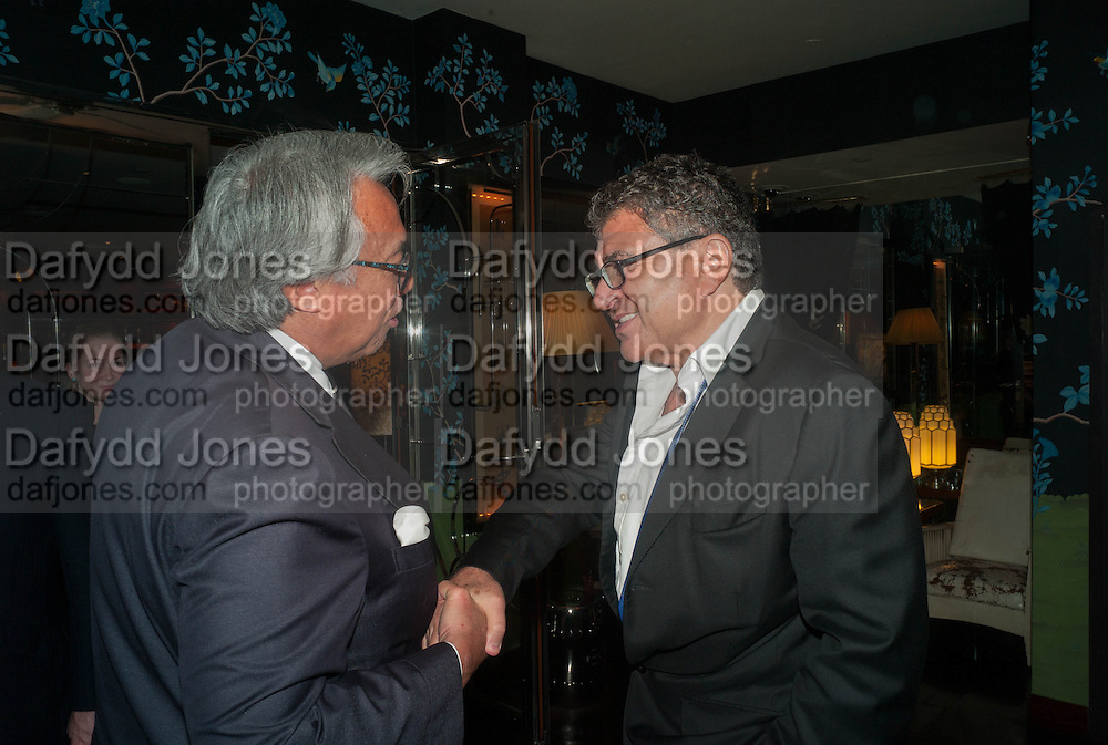SIR DAVID TANG; VINCENT TCHENGUIZ, Dinner in aid of the China Tiger Revival hosted by Sir David Tang and Stephen Fry  at China Tang, Park Lane, London. 1 October 2013. ,