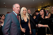 MICHAEL BARRYMORE; EMMA NOBLE;  Book launch party for the paperback of Nicky Haslam's book 'Sheer Opulence', at The Westbury Hotel. London. 21 April 2010