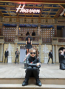 The God of Soho <br /> by Chris Hannan<br /> directed by Raz Shaw<br /> at Shakespeare's Globe Theatre, London, Great Britain <br /> press photocall<br /> 31st August 2011 <br /> <br /> Emma Pierson (as Natty)<br /> Jade Williams<br /> and Company <br /> <br /> Photograph by Elliott Franks