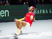 Canada vs Spain, Final, Rafael Nadal of Spain celebrates after winning against Denis Shapovalov of Canada during the Davis Cup 2019, Tennis Madrid Finals 2019 on November 24, 2019 at Caja Magica in Madrid, Spain - Photo Arturo Baldasano / ProSportsImages / DPPI