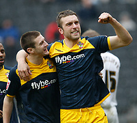 Photo: Steve Bond/Richard Lane Photography. MK Dons v Southampton. Coca-Cola Football League One. 20/03/2010. Rickie Lambert (R) celebrates his opener