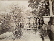 """Uchida Kuichi<br /> Sorihashi Bridge at Sumiyoshi Grand Shrine, Osaka, early to mid 1870s<br /> <br /> Vintage original first generation print made directly from Uchida's original negative during the peak of his career. This view shows the Sorihashi Bridge at Sumiyoshi Grand Shrine (Sumiyoshi Taisha) in Osaka. This Shinto shrine is one of the oldest in Japan and was founded in the third century, prior to the start of Buddhism in Japan. Vintage albumen print mounted to a paper photo album leaf, with the inscription """"Sumiyoshi Bridge Osaka"""" just above the print.<br /> <br /> Print: 10 1/2 x in. 8 1/4 in. (265 x 210 mm.)<br /> Mount 13 in. x 10 1/2 in. (330 mm x 265 mm).<br /> <br /> Condition: Overall very good with a minor amount of loss in contrast.<br /> <br /> Price: Inquire<br /> <br /> <br /> <br /> <br /> <br /> <br /> <br /> <br /> <br /> <br /> <br /> <br /> <br /> <br /> <br /> <br /> <br /> <br /> <br /> <br /> <br /> <br /> <br /> <br /> <br /> <br /> <br /> <br /> <br /> <br /> <br /> <br /> <br /> <br /> <br /> <br /> <br /> <br /> <br /> <br /> <br /> <br /> <br /> <br /> <br /> <br /> <br /> <br /> ."""