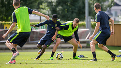 22.06.2015, Sportplatz, Fuegen, AUT, Trainingslager, BSC Young Boys, im Bild v.l.n.r.: Thorsten Schick (Young Boys Bern) und Alexander Gerndt (Young Boys Bern) // during the trainingscamp of Swiss Superleague club BSC Young Boys at the Sportplatz in Fuegen, Austria on 2015/06/22. EXPA Pictures © 2017, PhotoCredit: EXPA/ Jakob Gruber