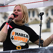Lapsley performs at the March4Women 2020, on 8 March 2020, London, UK.