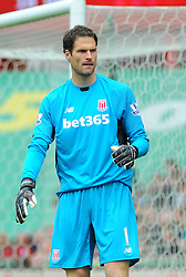 Stoke City's Asmir Begovic- Photo mandatory by-line: Nizaam Jones/JMP - Mobile: 07966 386802 - 24/05/2015 - SPORT - Football - Stoke - Britannia Stadium - Stoke City v Liverpool - Barclays Premier League