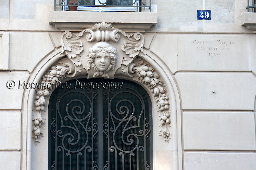 Art Deco doorway from the Montmartre area of Paris.