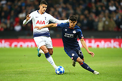 November 6, 2018 - London, England, United Kingdom - London, England - November 06, 2018.Erick Gutierrez  of PSV Eindhoven and Tottenham Hotspur's Erik Lamela.during Champion League Group B between Tottenham Hotspur and PSV Eindhoven at Wembley stadium , London, England on 06 Nov 2018. (Credit Image: © Action Foto Sport/NurPhoto via ZUMA Press)