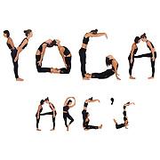 yoga, yoga alphabet, fine art prints, photo art prints, human alphabet, wall decals