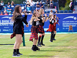 LIVERPOOL, ENGLAND - Saturday, June 23, 2018: Members of Girl Talk entertain the crowds during day three of the Williams BMW Liverpool International Tennis Tournament 2018 at Aigburth Cricket Club. (Pic by Paul Greenwood/Propaganda)