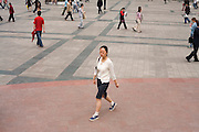 Pedestrians in the shopping centre of Chongqing, The People's Republic of China