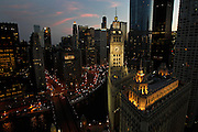 The Wrigley Building on Wednesday, July 20, 2011. <br /> <br /> (Brian Cassella/ Chicago Tribune) B581424650Z.1<br /> ....OUTSIDE TRIBUNE CO.- NO MAGS,  NO SALES, NO INTERNET, NO TV, NEW YORK TIMES OUT, CHICAGO OUT, NO DIGITAL MANIPULATION...