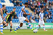 Colchester United's Mikaël Mandron(19) plays a pass during the EFL Sky Bet League 2 match between Colchester United and Carlisle United at the Weston Homes Community Stadium, Colchester, England on 14 October 2017. Photo by Phil Chaplin