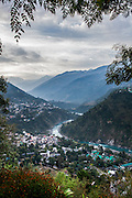 The town of Chamba in the Indian state of Himachal Pradesh in the Himalayas