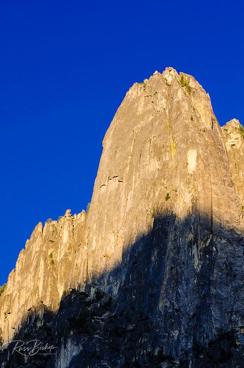 Evening light on Sentinel Rock, Yosemite National Park, California USA