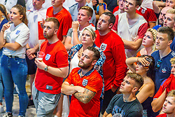 Fans look dejected as they watch the game on the large indoor Sports Bar screen at Ashton Gate - Ryan Hiscott/JMP - 11/07/2018 - FOOTBALL - Ashton Gate - Bristol, England - England v Croatia, World Cup Village at Ashton Gate, FIFA World Cup Semi Final 2018