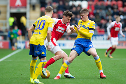 January 26, 2019 - Rotherham, England, United Kingdom - Billy Jones of Rotherham United is challenged by Jack Clarke of Leeds United during the Sky Bet Championship match between Rotherham United and Leeds United at the New York Stadium, Rotherham, England, UK, on Saturday 26th January 2019. (Credit Image: © Mark Fletcher/NurPhoto via ZUMA Press)