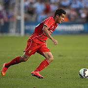Philippe Coutinho, Liverpool, in action during the Manchester City Vs Liverpool FC Guinness International Champions Cup match at Yankee Stadium, The Bronx, New York, USA. 30th July 2014. Photo Tim Clayton