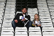 Derby County fans during the EFL Sky Bet Championship match between Derby County and Bristol City at the Pride Park, Derby, England on 20 August 2019.