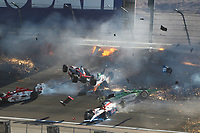 MOTORSPORT - US RACES - INDYCAR 2011 - LAS VEGAS (USA) 13 TO 16/10/12011 - PHOTO : PHILLIP ABBOTT / LAT / DPPI - <br /> CRASH ON LAP 13 - ACCIDENT