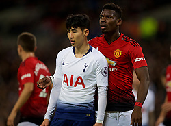 LONDON, ENGLAND - Sunday, January 13, 2019: Tottenham Hotspur's Son Heung-min (L) and Manchester United's Paul Pogba during the FA Premier League match between Tottenham Hotspur FC and Manchester United FC at Wembley Stadium. (Pic by David Rawcliffe/Propaganda)