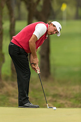 March 23, 2018 - Austin, TX, U.S. - AUSTIN, TX - MARCH 23:  Phil Mickelson leaves a par putt short to lose the seventh hole against R. Cabrera Bello during the WGC-Dell Technologies Match Play Tournament on March 22, 2018, at the Austin Country Club in Austin, TX.  (Photo by David Buono/Icon Sportswire) (Credit Image: © David Buono/Icon SMI via ZUMA Press)