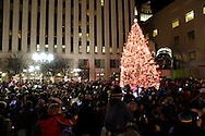 People gather round the tree as the countdown ends and the more than 100,000 lights are turned on for the first time during the Grande Illumination & Dayton Children's Parade Spectacular in Lights which begins the 39th Annual Dayton Holiday Festival in Courthouse Square in downtown Dayton, Friday, November 25, 2011.