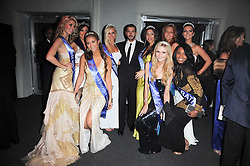 SHAYNE WARD with Miss England finalists at the Collars & Coats Gala Ball celebrating 150 years of Battersea Dogs & Cats Home held at Battersea Power Station, London on 25th November 2010.