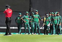 Cricket - 2017 ICC Champions Trophy - Group A: England vs. Bangladesh<br /> <br /> Tamim Iqbal of Bangladesh asks the umpire why Root was not given out , but the replay showed the ball had touched the ground first before the catch at The Kia Oval.<br /> <br /> COLORSPORT/ANDREW COWIE