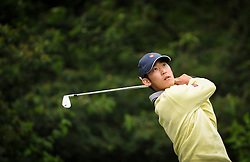 05.06.2014, Country Club Diamond, Atzenbrugg, AUT, Lyoness Golf Open, im Bild Tain Lee (USA) // Tain Lee (USA) in action during the Austrian Lyoness Golf Open at the Country Club Diamond, Atzenbrugg, Austria on 2014/06/05. EXPA Pictures © 2014, PhotoCredit: EXPA/ Sascha Trimmel