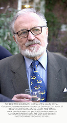 MR EDWARD GOLDSMITH brother of the late Sir James Goldsmith, at a reception in London on 2nd May 2001.ONN 27
