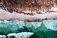 Areal view of Eftalqoute beach and cliffs, Dhofar region , Oman