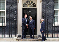 © Licensed to London News Pictures. 17/09/2013. London, UK. The British Prime Minister David Cameron meets with the Libyan Prime Minister Ali Zeidan (2R) on Downing Street in London today (17/09/2013). Photo credit: Matt Cetti-Roberts/LNP