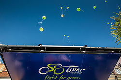 Green baloons at trophy ceremony after the last Stage 4 of 24th Tour of Slovenia 2017 / Tour de Slovenie from Rogaska Slatina to Novo mesto (158,2 km) cycling race on June 18, 2017 in Slovenia. Photo by Vid Ponikvar / Sportida