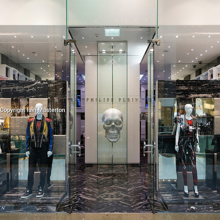 Philipp Plein fashion  shop in Dubai Mall Dubai United Arab Emirates