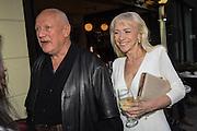 Stephen Berkoff; Bienvenida Sokolova, Sod the Bitches, Stephen Berkoff book launch. aunch.  272 Brompton Road, London. 11 May 2015
