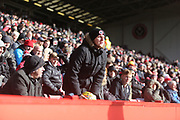 A Sheffield United fan vents at his team during the EFL Sky Bet Championship match between Sheffield United and Nottingham Forest at Bramall Lane, Sheffield, England on 17 March 2018. Picture by Mick Haynes.