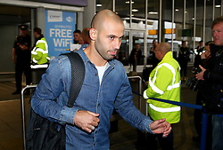 Javier Mascherano of FC Barcelona arrives at Manchester Airport - Mandatory by-line: Matt McNulty/JMP - 31/10/2016 - FOOTBALL - Manchester Airport - Manchester, England - Manchester City v Barcelona - UEFA Champions League - Group C
