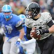 Quarterback A.J. Schurr, Army, in action during the Army Black Knights Vs Air Force Falcons, College Football match at Michie Stadium, West Point. New York. Air Force won the game 23-6. West Point, New York, USA. 1st November 2014. Photo Tim Clayton