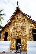 Image of the Royal Carriage House at Wat Xiengthong, Luang Prabang, Laos.