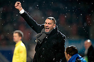 Onderwerp/Subject: Heracles Almelo - Eredivisie<br /> Reklame:  <br /> Club/Team/Country: <br /> Seizoen/Season: 2012/2013<br /> FOTO/PHOTO: Assistant Coach Hendrie KRUZEN of Heracles Almelo celebrating. (Photo by PICS UNITED)<br /> <br /> Trefwoorden/Keywords: <br /> #02 #09 #22 $94 &plusmn;1355227963438<br /> Photo- &amp; Copyrights &copy; PICS UNITED <br /> P.O. Box 7164 - 5605 BE  EINDHOVEN (THE NETHERLANDS) <br /> Phone +31 (0)40 296 28 00 <br /> Fax +31 (0) 40 248 47 43 <br /> http://www.pics-united.com <br /> e-mail : sales@pics-united.com (If you would like to raise any issues regarding any aspects of products / service of PICS UNITED) or <br /> e-mail : sales@pics-united.com   <br /> <br /> ATTENTIE: <br /> Publicatie ook bij aanbieding door derden is slechts toegestaan na verkregen toestemming van Pics United. <br /> VOLLEDIGE NAAMSVERMELDING IS VERPLICHT! (&copy; PICS UNITED/Naam Fotograaf, zie veld 4 van de bestandsinfo 'credits') <br /> ATTENTION:  <br /> &copy; Pics United. Reproduction/publication of this photo by any parties is only permitted after authorisation is sought and obtained from  PICS UNITED- THE NETHERLANDS