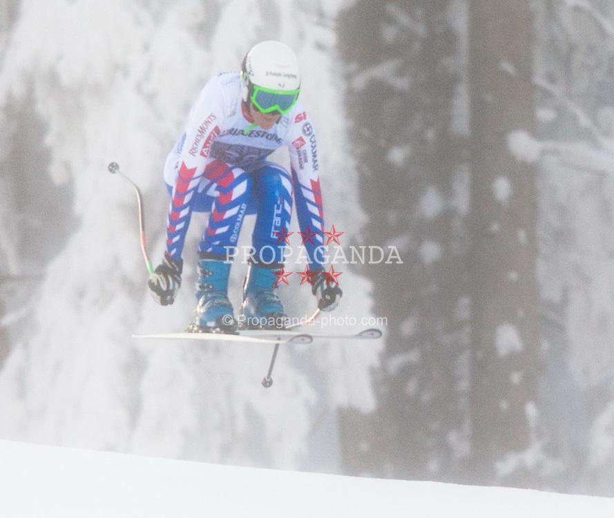 03.02.2012, Kandahar, Garmisch Partenkirchen, AUT, FIS Weltcup Ski Alpin,  Damen, Abfahrt 2. Training, im Bild Marion Pellissier (FRA) // Marion Pellissier of France during 2nd Downhill practice run of FIS Ski Alpine World Cup at 'Kandahar' course in Garmisch Partenkirchen, Germany on 2012/02/03. EXPA Pictures © 2012, PhotoCredit: EXPA/ Johann Groder